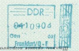GDR – stamp of border control, 1969 post image