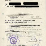 GDR – confiscation document, 1989 thumbnail