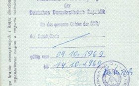GDR – registration record in the passport, 1969 post image
