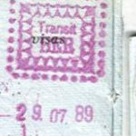 GDR – transit stamps from Berlin Airport, 1989 thumbnail