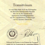 GDR – transit visa to West Berlin (other version) thumbnail