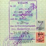 GDR – entry visa to FRG, 1978 thumbnail