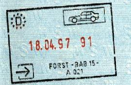 Germany – passport stamp, 1997 post image
