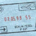 Germany – stamp of border control, 1998 thumbnail