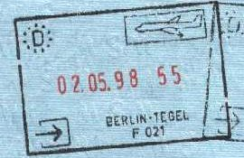 Germany – stamp of border control, 1998 post image