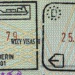 Germany – stamps of border control at the port, 1999 thumbnail