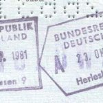 Germany – stamps of border control, 1981 thumbnail