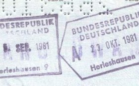 Germany – stamps of border control, 1981 post image