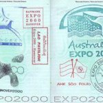 Germany – commemorative stamps with the Expo 2000 in Hanover thumbnail