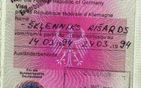 Germany – visa, 1994 post image