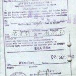 Germany – visa for residence, 1981 thumbnail