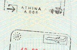 Greece – stamps of border control, 2001 post image