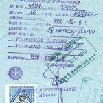 Greece – visa and commemorative stamps, 1990 thumbnail