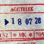 Hungary – border stamp, 1998 thumbnail