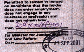 Ireland – permission to stay in the country, 2001 post image