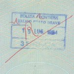 Italy – cancellation of stamp, 1994 thumbnail