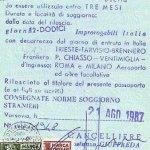 Italy – visa, 1987 thumbnail