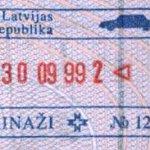 Latvia – border stamp, 1999 thumbnail