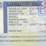Latvia – visa, 2000 thumbnail