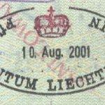 Liechtenstein – border stamp, 2001 thumbnail