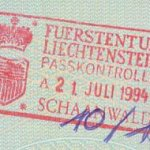 Liechtenstein – stamp of border control, 1994 thumbnail