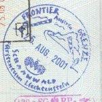 Liechtenstein – stamp, 2001 thumbnail