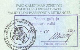 Lithuania – confirmation of a valid passport post image