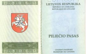 Lithuania – the inside of the cover of the passport post image