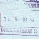 Lithuania – passport stamp, 1993 thumbnail