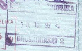 Lithuania – passport stamp, 1993 post image