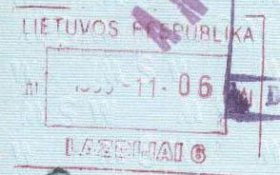 Lithuania – passport stamp, 1995 post image