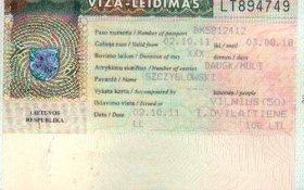 Lithuania – visa, 2002 post image