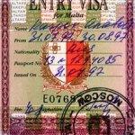 Malta – visa, 1997 thumbnail