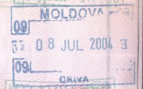 Moldova – entry stamp, 2004 post image