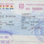 Moldova – business visa and border stamp, 2002 thumbnail