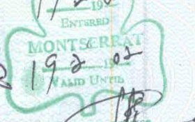 travels and visa to Montserrat