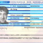 Netherlands – main page of passport thumbnail