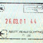 Netherlands – stamp of air border control, 2001 thumbnail