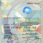 Netherlands – visa, 1995 thumbnail