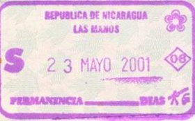 travels and visa to Nicaragua