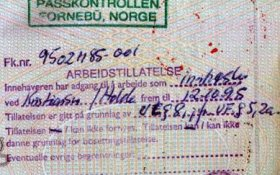 Norway – visa and entry stamp, 1995 post image
