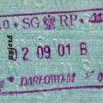 Poland – border stamp, 2001 thumbnail