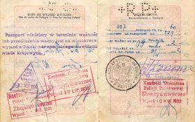 Poland – passport 1929, border stamps 1930-1932 post image