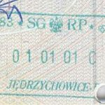 Poland – border stamp from January 1, 2001 thumbnail