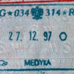 Poland – border stamp, 1997 thumbnail