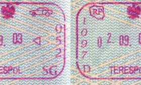 Poland – border stamps, 2003 (entry / exit) post image