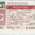 Poland – visa, 2001 thumbnail