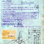 Portugal – visa and border stamp, 1990 thumbnail