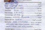 Sudan – a travel permit, 2002