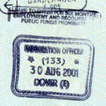 United Kingdom – border stamp from the port of Dover, 2001 thumbnail